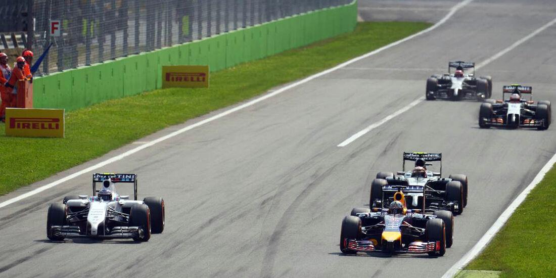 Valtteri Bottas - Williams - Daniel Ricciardo - Red Bull  - Formel 1 - GP Italien - 7. September 2014