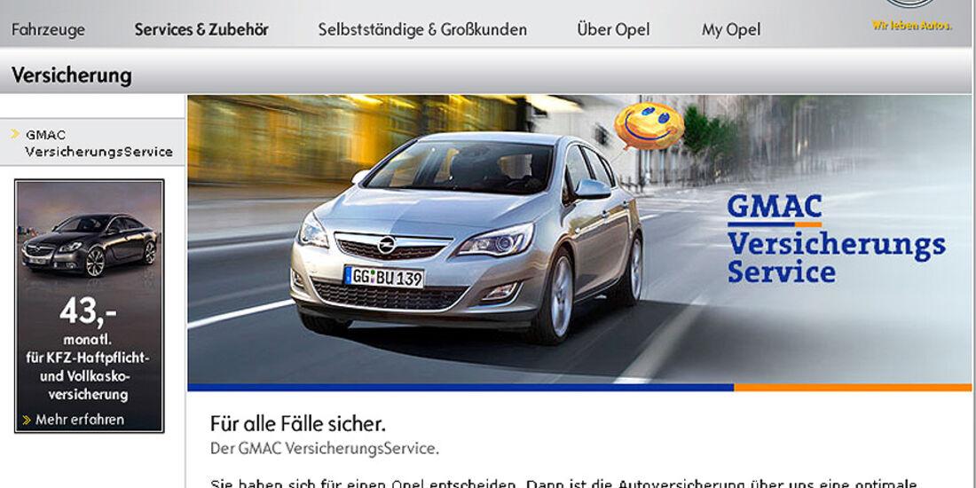 Versicherung, Hersteller, Opel 0510