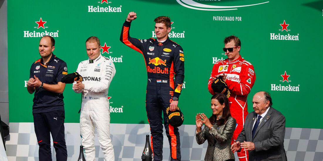 Verstappen - Bottas - Räikkönen - GP Mexiko 2017 - Rennen