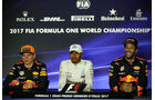 Verstappen, Hamilton & Ricciardo - Formel 1 - GP Italien - Monza - 2. September 2017