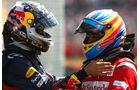Vettel Alonso GP England 2011 Rennen