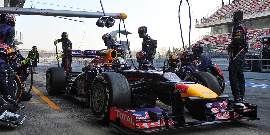 Vettel Boxenstopp 2013 Barcelona