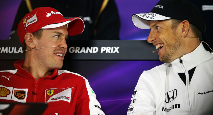 Vettel & Button - Formel 1 - GP China - Shanghai - 9. April 2015