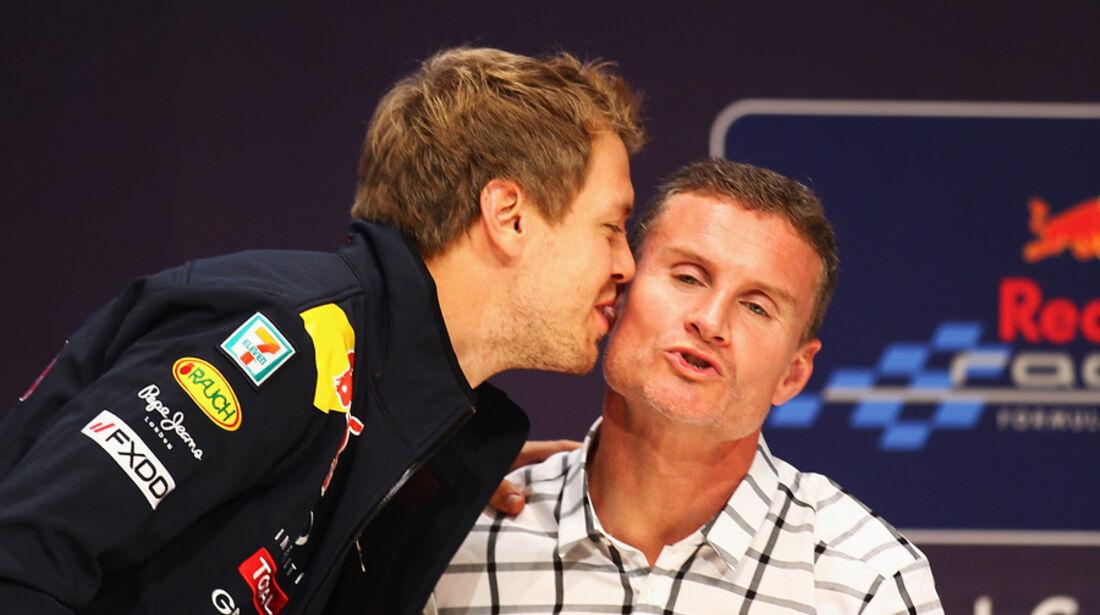 Vettel Coulthard WM-Feier GP Japan 2011