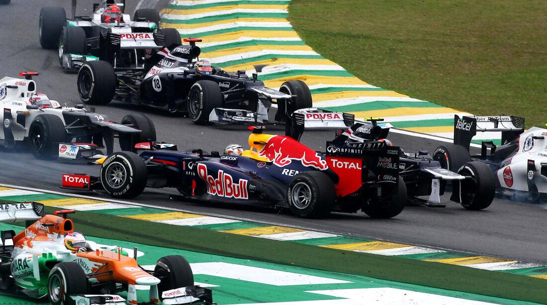 Vettel GP Brasilien F1 Crashs 2012