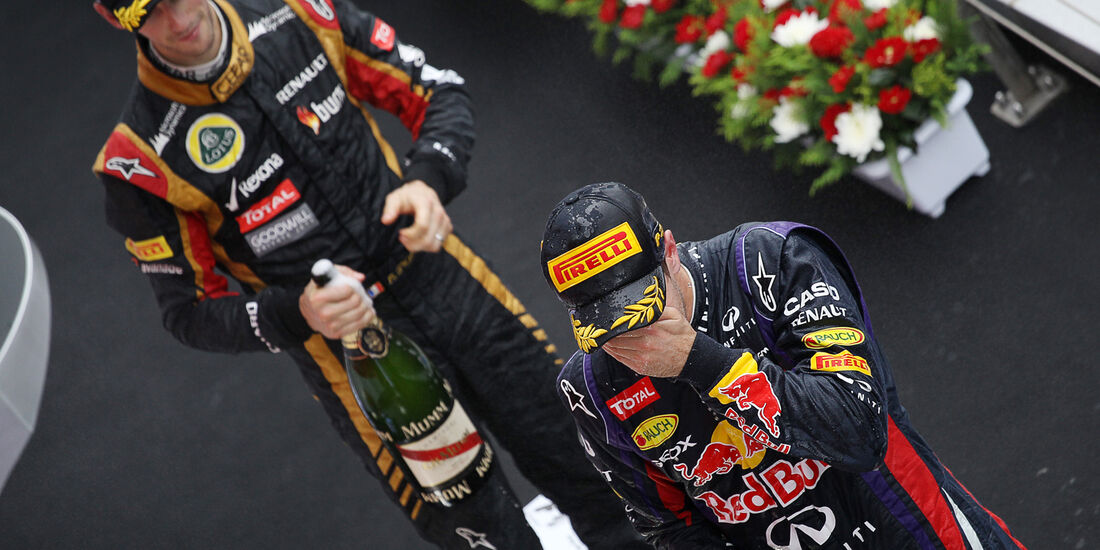 Vettel & Grosjean - GP Korea 2013