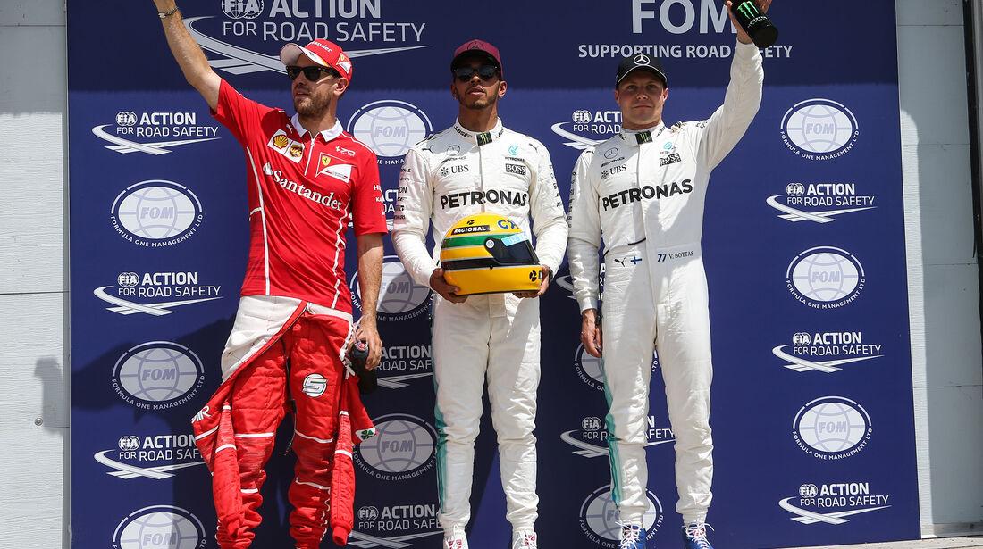 Vettel, Hamilton & Bottas - Formel 1 - GP Kanada - Montreal - 10. Juni 2017