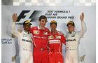Vettel - Hamilton - Bottas - Podest -  GP Bahrain 2017 - Rennen