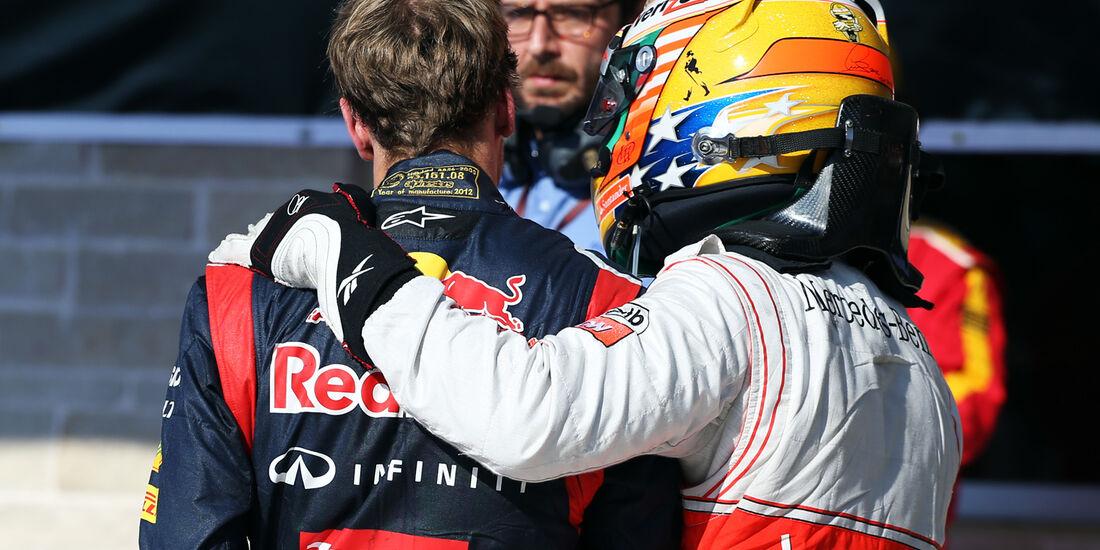 Vettel & Hamilton Formel 1 Austin GP USA 2012