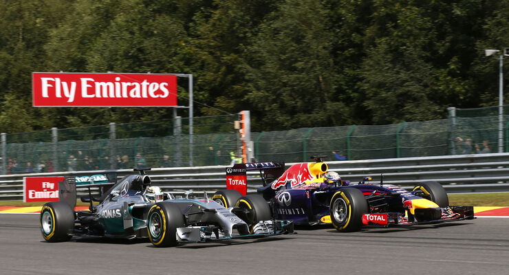Vettel & Hamilton - GP Belgien 2014