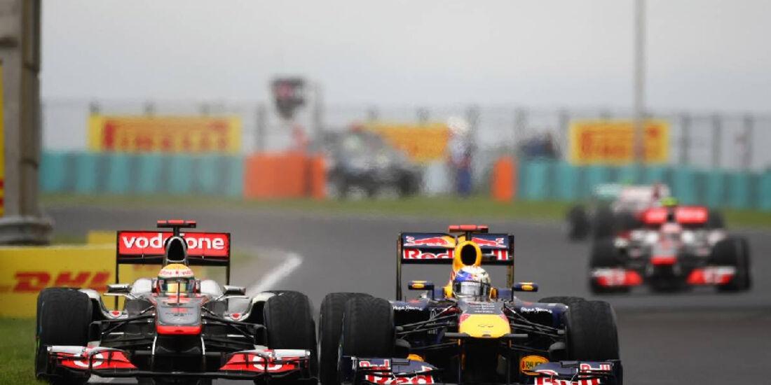 Vettel Hamilton - GP Ungarn - Formel 1 - 31.7.2011 - Highlights