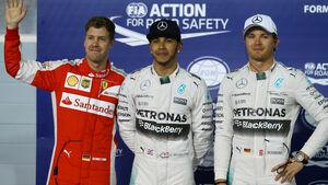 Vettel, Hamilton & Rosberg - GP Bahrain 2015