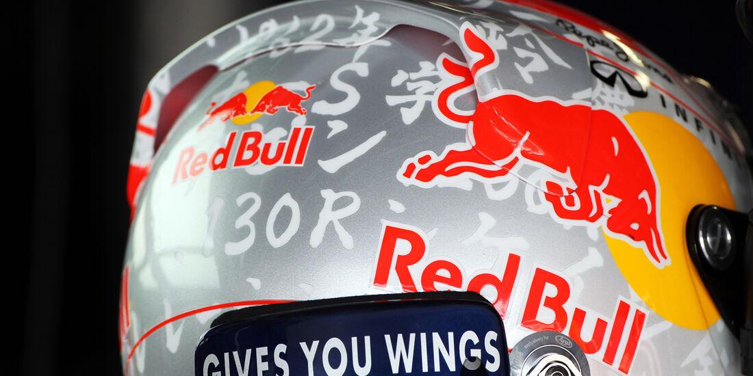 Vettel-Helm - Formel 1 - GP Japan - Suzuka - 6. Oktober 2012