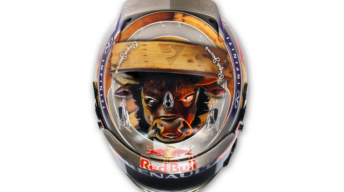 Vettel-Helm - Formel 1 - GP USA - 16. November 2013