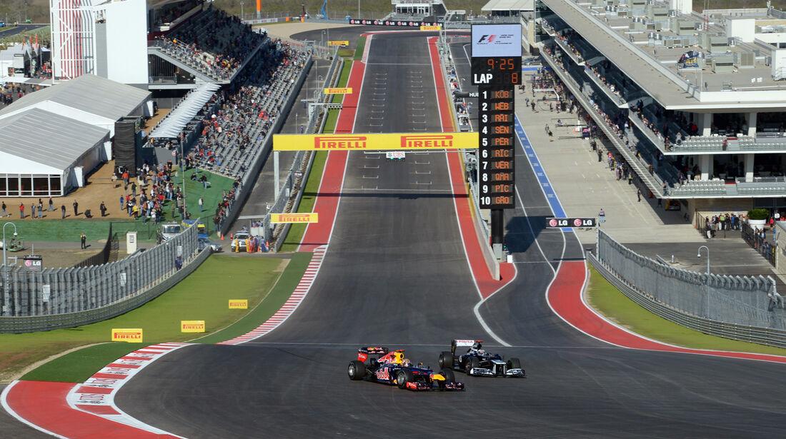 Vettel & Maldonado - Formel 1 - GP USA - Austin - 16. November 2012