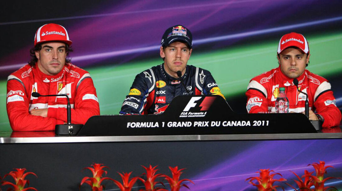 Vettel Massa Alonso GP Kanada 2011