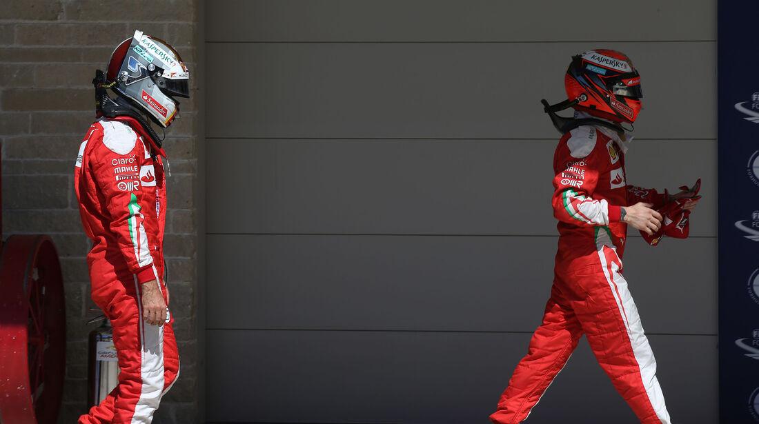 Vettel & Räikkönen - Ferrari - Formel 1 - Austin - GP USA - 22. Oktober 2016