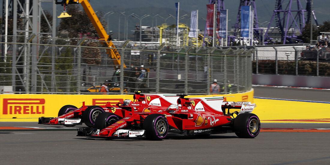 Vettel & Räikkönen - Ferrari - Formel 1 - GP Russland - Sotschi - 29. April 2017