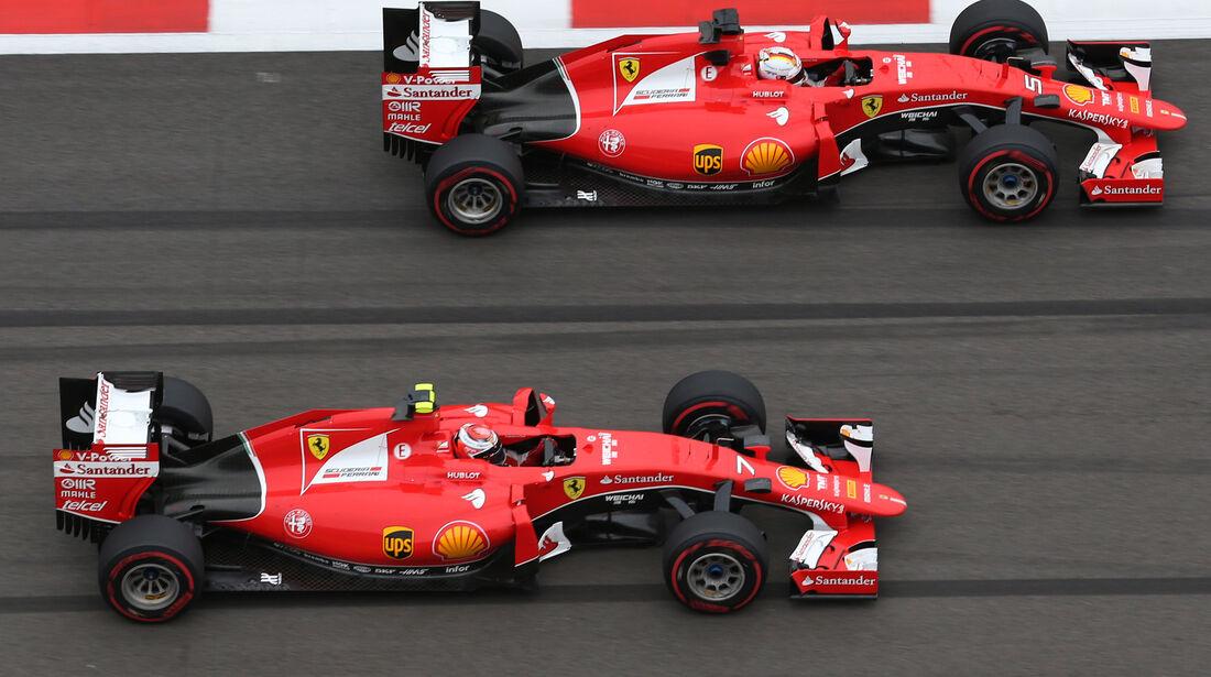 Vettel & Räikkönen - GP Russland 2015