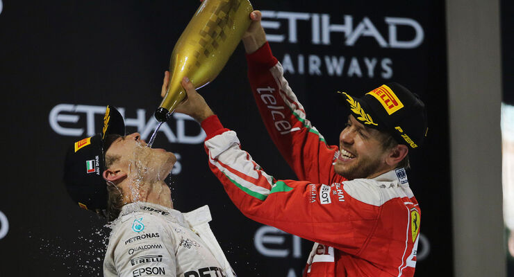 Vettel & Rosberg - Formel 1 - GP Abu Dhabi 2016