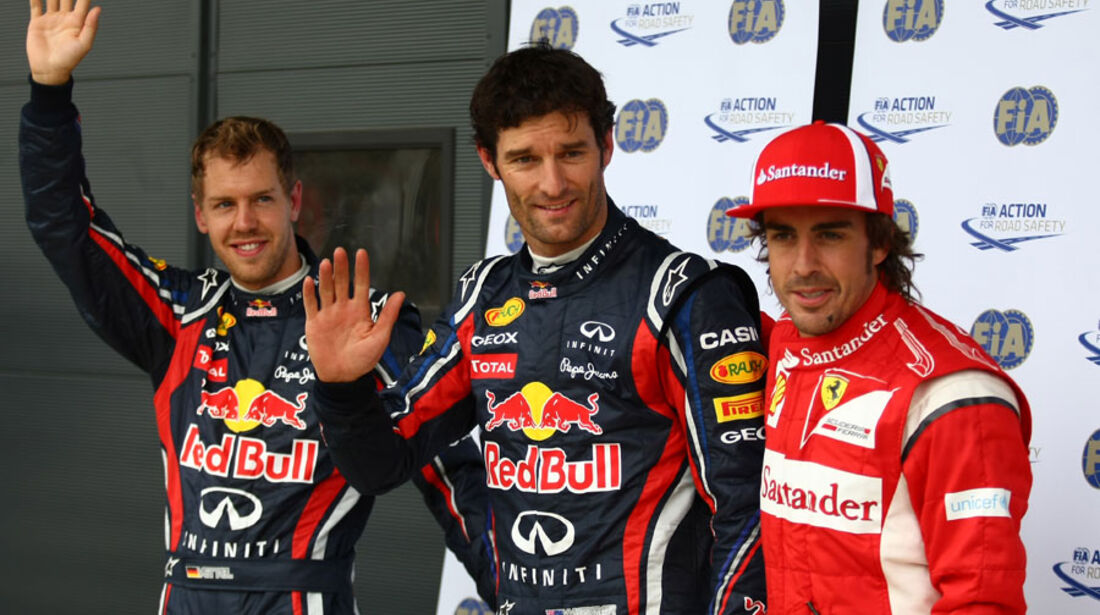 Vettel, Webber & Alonso - GP England - Qualifying - 9. Juli 2011