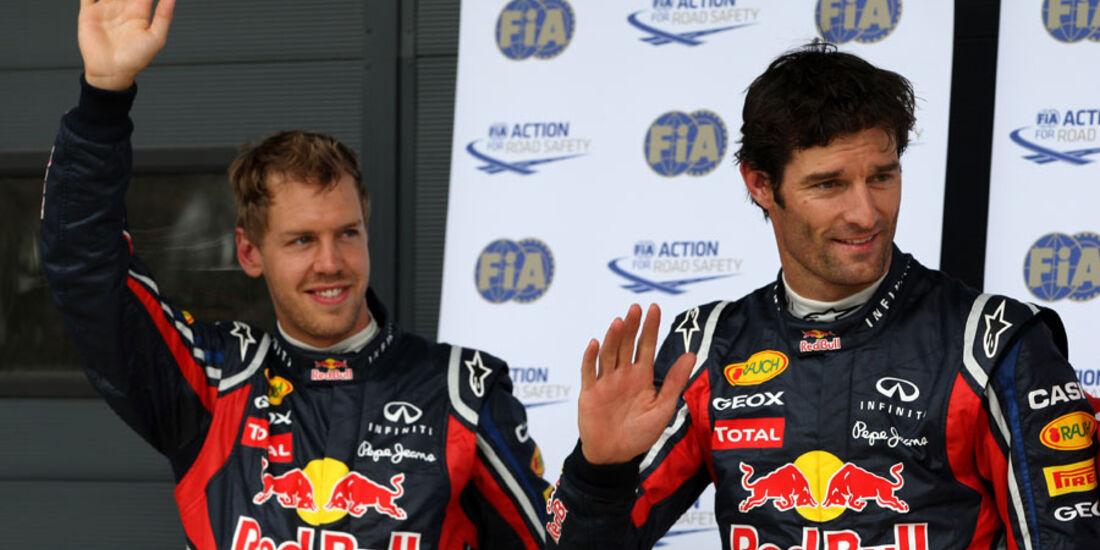 Vettel & Webber - GP England - Qualifying - 9. Juli 2011