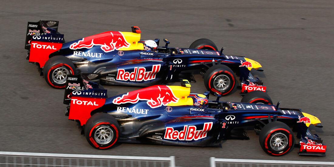 Vettel Webber Red Bull 2012 GP Korea