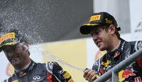 Vettel & Webber Rennen GP Belgien 2011