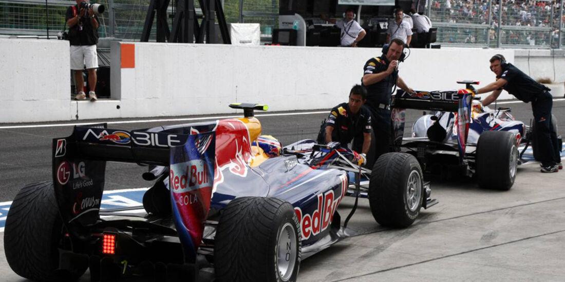 Vettel & Webber beim GP Japan