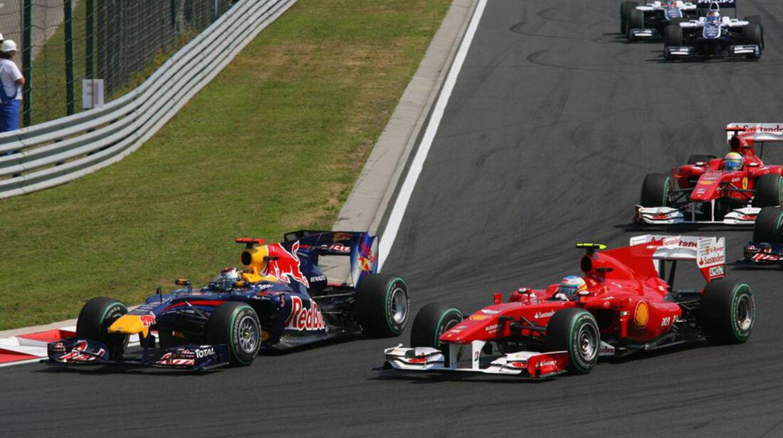 Vettel und Alonso