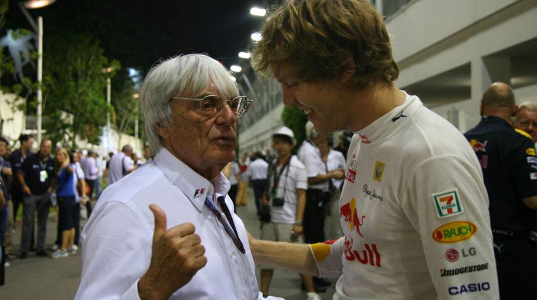 Vettel und Ecclestone