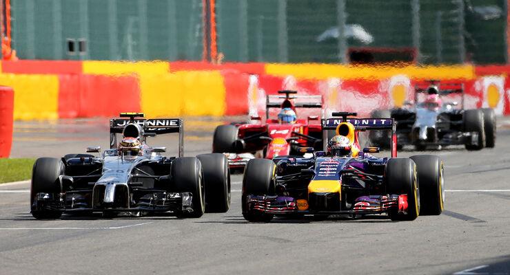 Vettel vs. Magnussen - GP Belgien 2014