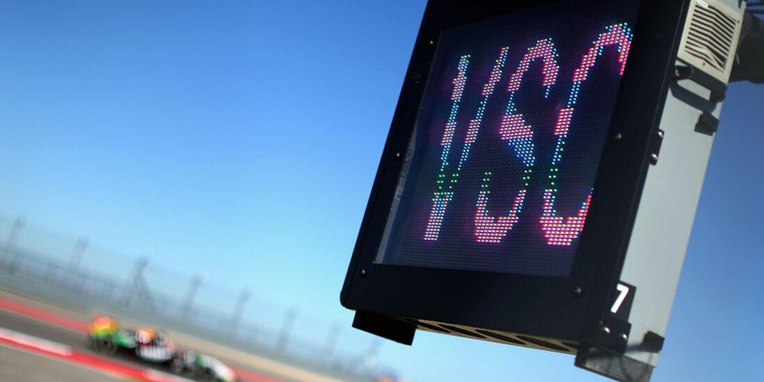 Virtual Safety Car - Formel 1 - GP USA - 31. Oktober 2014