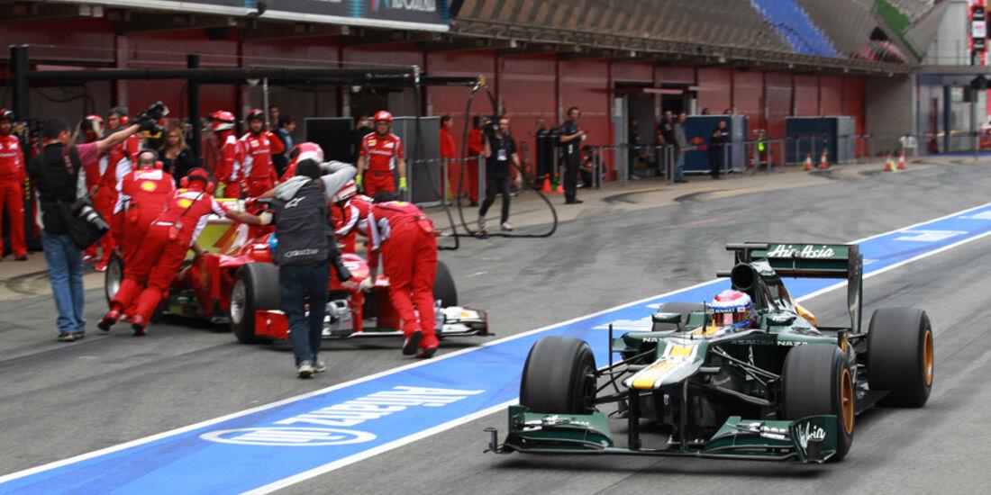 Vitaly Petrov - Caterham - Formel 1-Test - Barcelona - 2012