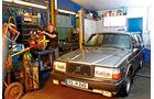 Volvo 240, Garage, Frontansicht