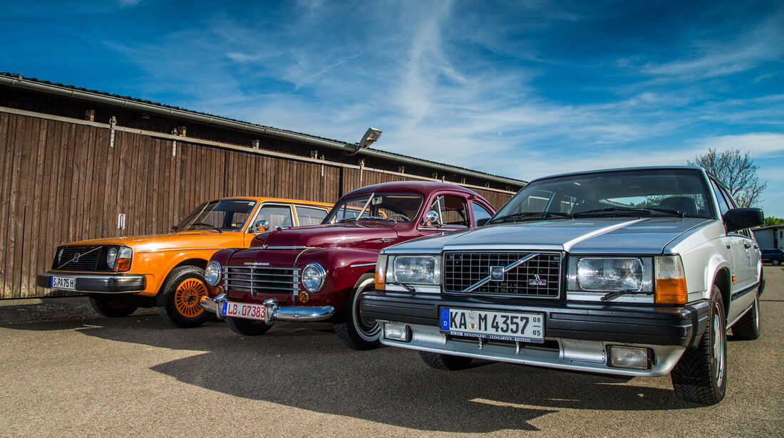 Volvo PV 444, Volvo 240, Volvo 740, Frontansicht