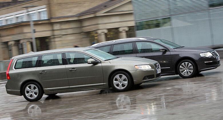 Volvo V70 vs VW Passat Variant