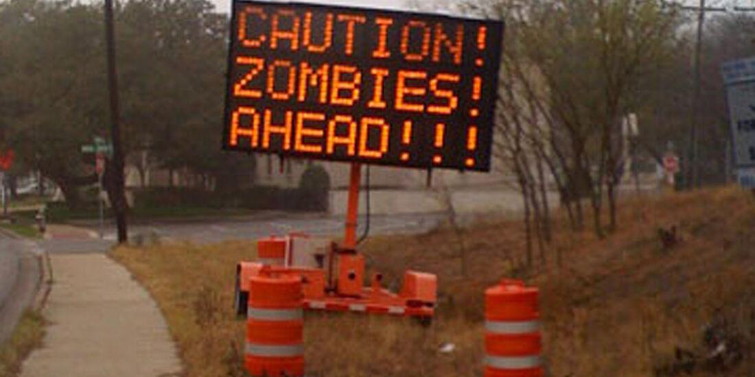 Warntafel, Zombies