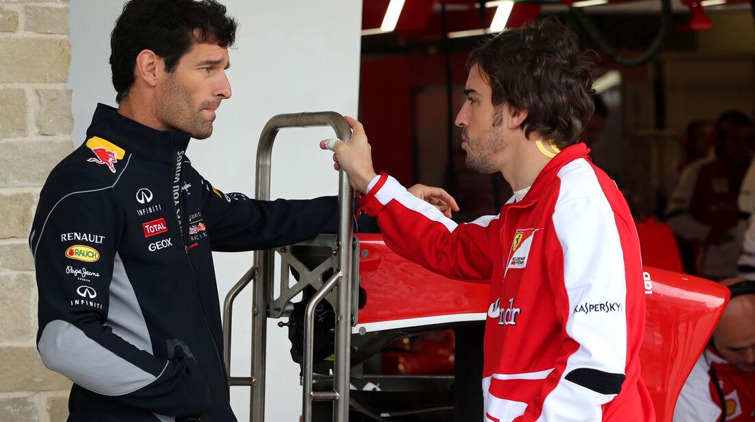 Webber & Alonso - Formel 1 - GP USA - 15. November 2013
