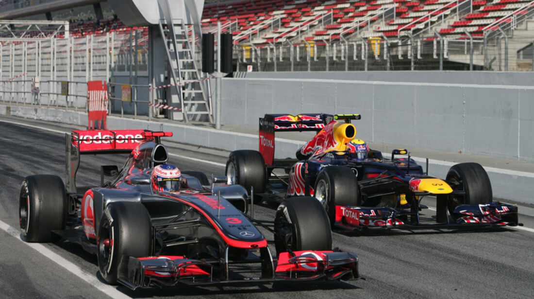 Webber & Button - Formel 1-Test - Barcelona - 2012