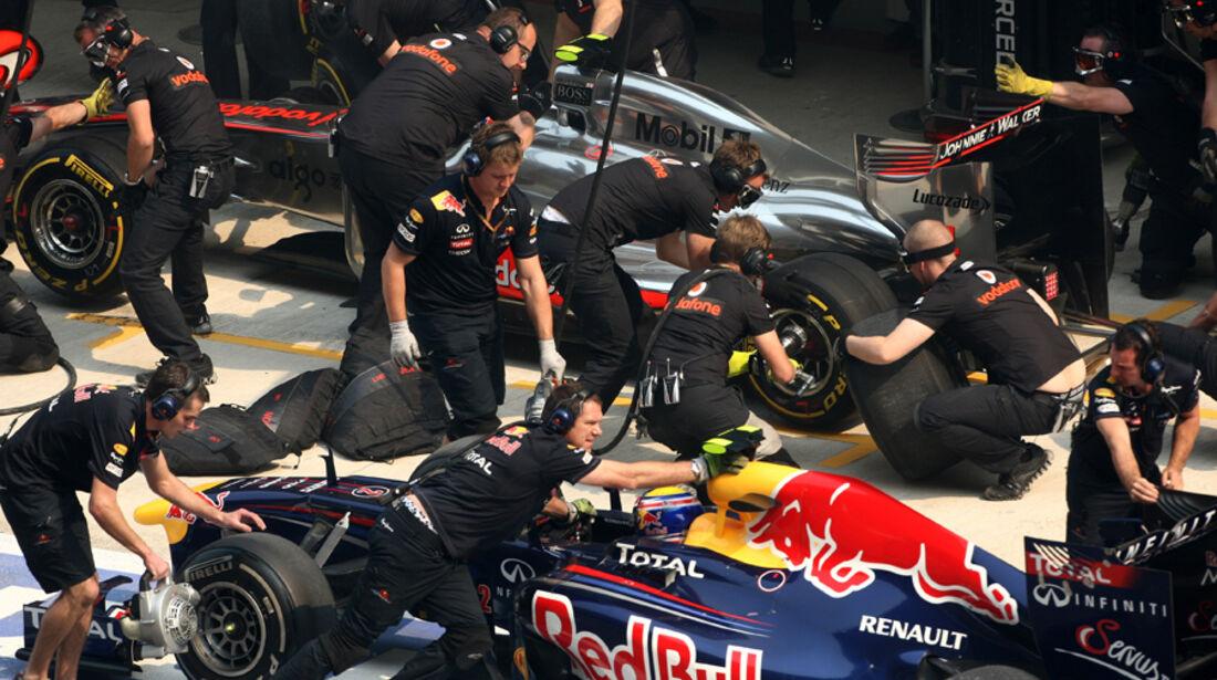 Webber & Button - GP Indien - Training - 28.10.2011