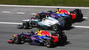 Webber, Hamilton & Vettel - Formel 1 - GP Deutschland 2013