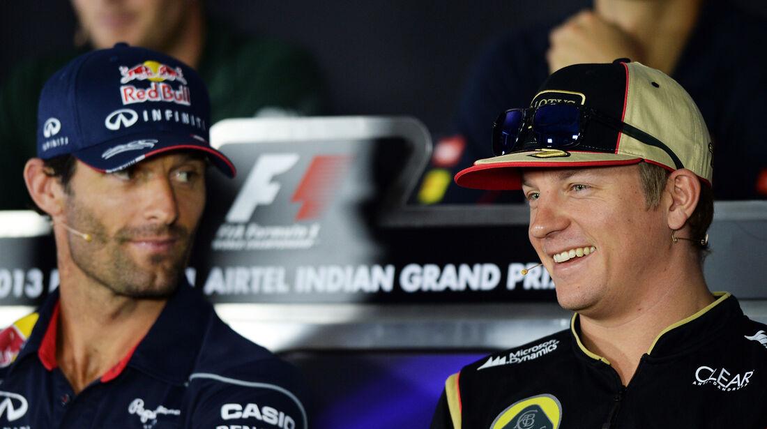 Webber & Räikkönen - Formel 1 - GP Indien - Delhi - 24. Oktober 2013