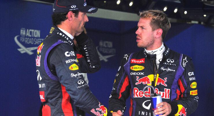 Webber & Vettel - Formel 1 - GP Korea - 5. Oktober 2013