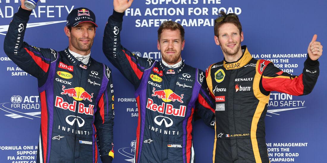 Webber, Vettel & Grosjean - Formel 1 - GP USA - 16. November 2013