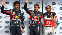 Webber, Vettel & Hamilton - GP Belgien - Qualifying - 27.8.2011