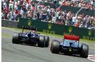Webber vs. Button - GP England 2013
