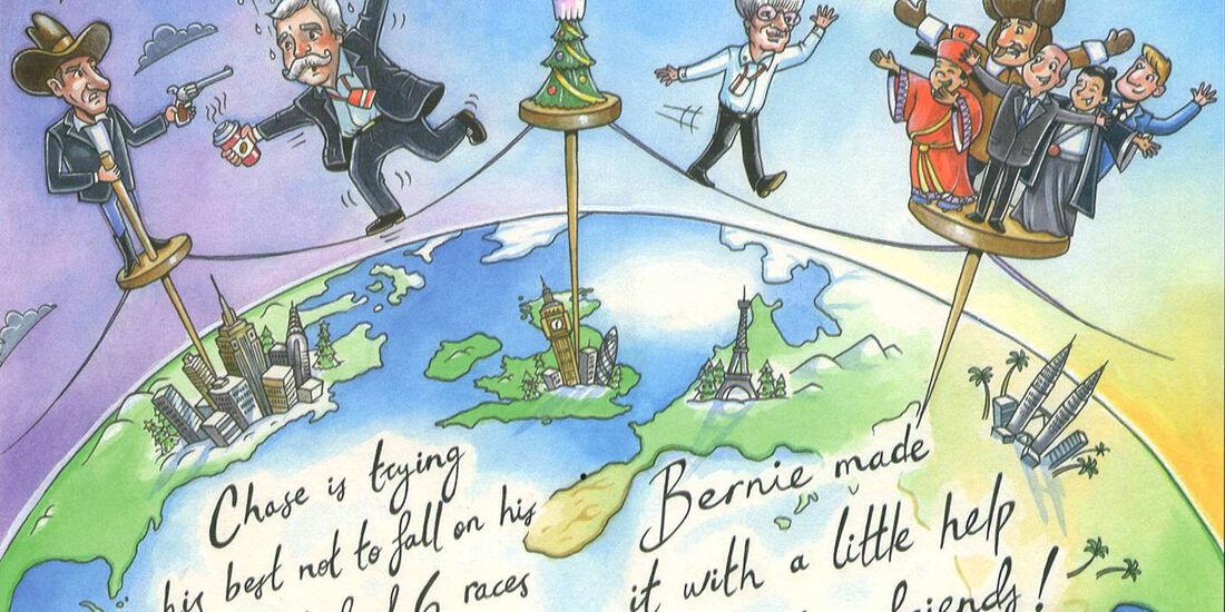 Weihnachtskarte Bernie Ecclestone 2017