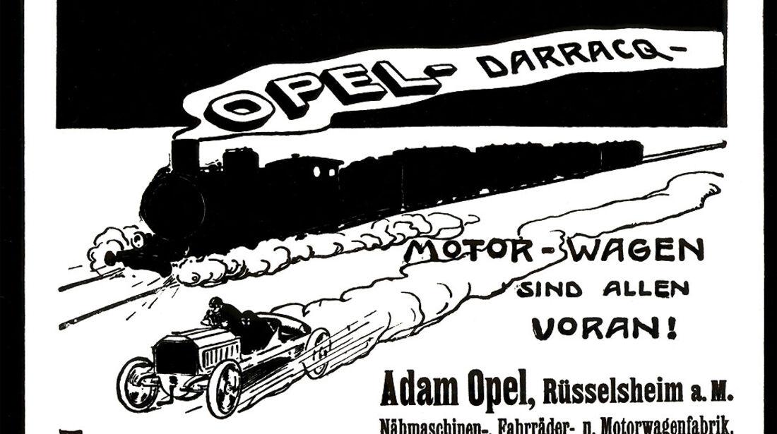 Werbung für den Opel Darracq aus dem Jahr 1903