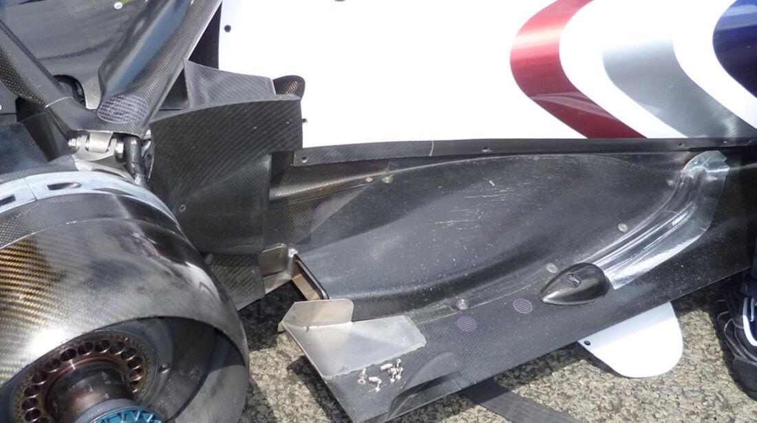 Williams Auspuff GP England 2011